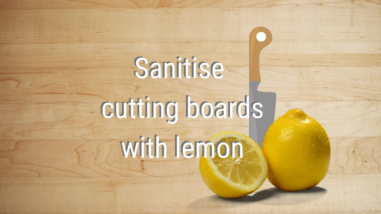 Youtube Sanitise Cutting Boards With Lemon
