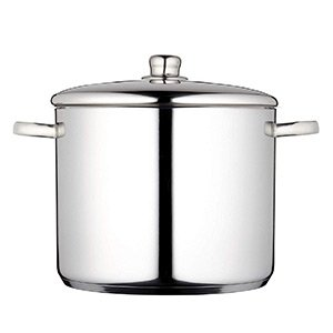 Masterclass Induction Safe Stainless Steel Large Stock Pot With Lid 14 Litre