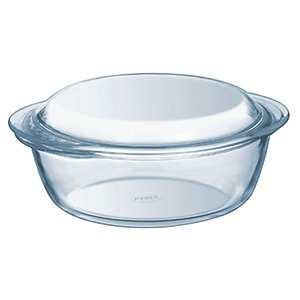 Pyrex Essentials Glass Round Casserole High Resistance