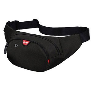 Waist Bag 3 Zip Pockets Travel Hiking Outdoor Sport