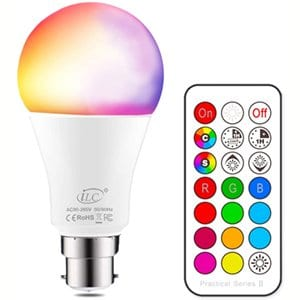 Ilc Colour Changing 10w B22 Led Light Bulbs