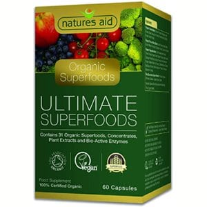 Natures Aid Organic Ultimate Superfoods Complex 60 Capsules
